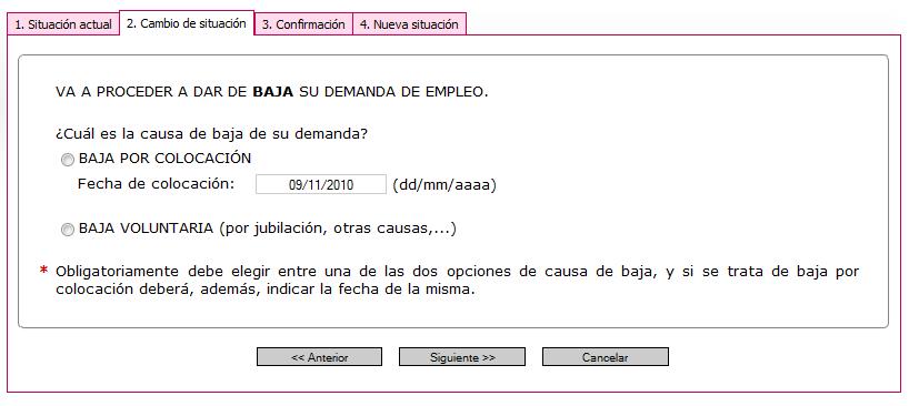 Paso de alta a baja for Oficina virtual empleo jccm