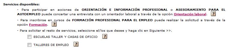 Servicios disponibles for Oficina virtual empleo jccm